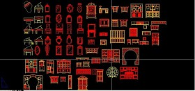 原创中式博古架家具CAD图库-版权可商用