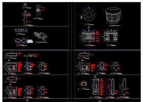 原创展厅柜台货架CAD施工图三维立体图-版权可商用