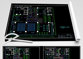 原創整套健身房CAD施工圖CAD圖庫-版權可商用