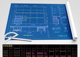 原创轻奢风格木饰面房门柜子CAD模块图库-版权可商用