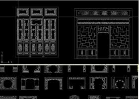 原创CAD中式花格CAD图库-版权可商用