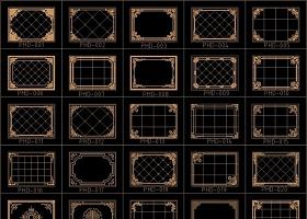 原创大理石水刀拼花图案中式法式欧式花纹地拼-版权可商用