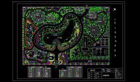 原創3套公園園林景觀CAD平面施工圖