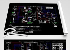 原创校园视频监控拓扑图CAD施工图-版权可商用