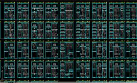 原創多款衣柜設計衣柜CAD立面圖紙2-版權可商用