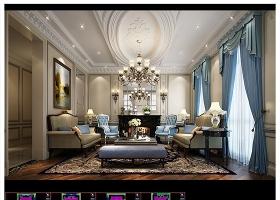 原创法式奢华别墅样板房装修CAD图库