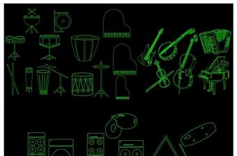 乐器总汇CAD图库
