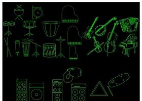 樂器總匯CAD圖庫