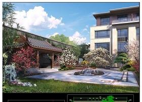原创全套新中式别墅景观庭院建筑CAD图纸