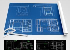 原創CAD整木家具設計圖紙榻榻米柜子酒柜衣柜-版權可商用