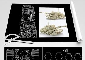 原创激光切割工艺品CAD图纸3D拼装图建筑-版权可商用