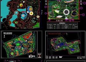 原创各式公园景观设计CAD平面图方案-版权可商用