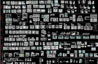 原创酒柜书柜卫浴柜衣柜鞋柜装饰柜CAD图集-版权可商用