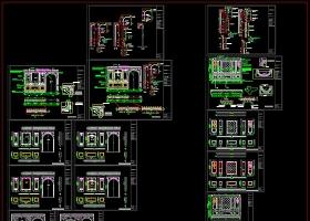 整木定制法式墙板工艺标准CAD图库