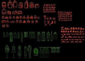 原创CAD商业常用模块行李箱衣服鞋子珠宝首饰-版权可商用