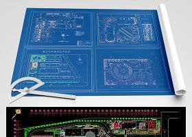原创50套工厂工业园规划绿化CAD-版权可商用