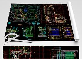 原创胸科医院CAD全套平面装修图