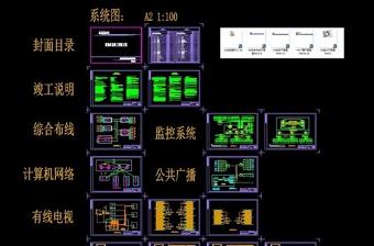原创酒店智能化工程竣工图纸CAD弱电智能化-版权可商用