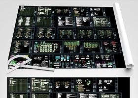原创弱电系统图大样图弱电CAD-版权可商用