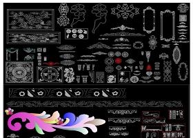 原创超炫欧式雕花花纹CAD图库-版权可商用