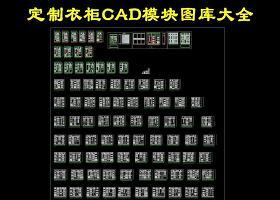 原創衣柜設計CAD圖庫