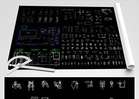 原創健身房CAD圖紙-版權可商用