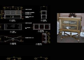原创美式柜子CAD图纸-版权可商用