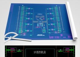 原创网络监控系统图模板(高层建筑)CAD弱电智能化-版权可商用