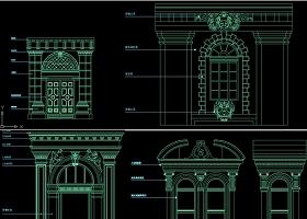 原创欧式建筑背景cad图库收集-版权可商用
