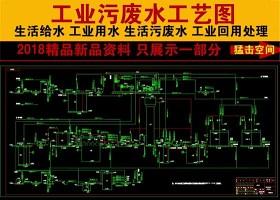 原创某制药厂污水处理工程工艺流程图