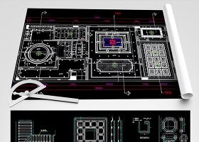 原创2018整木天花吊顶CAD图库带剖面-版权可商用