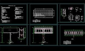 原创广告牌钢结构CAD设计图