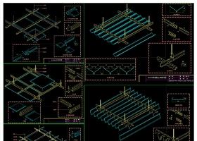 原創全套鋁板大樣CAD施工圖-版權可商用