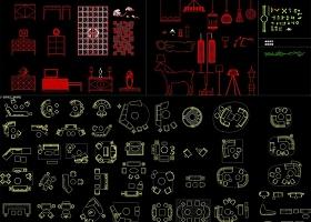 原创2018工装CAD图块-版权可商用