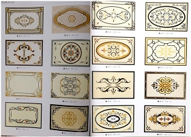 原创大理石水刀拼花图案中式法式欧式地拼-版权可商用