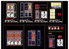 原创中式古典风格书柜家具CAD图库大全