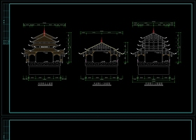 原创CAD侗族风雨桥施工图-版权可商用