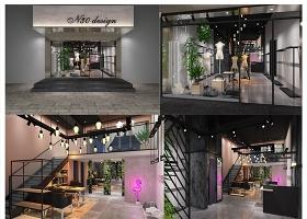 原创服装店CAD施工图3D模型效果图-版权可商用