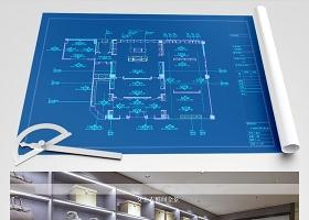 原创轻奢风格全屋定制展厅CAD图纸-版权可商用