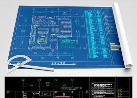 原創餐飲店廚房施工詳圖CAD室內設計-版權可商用