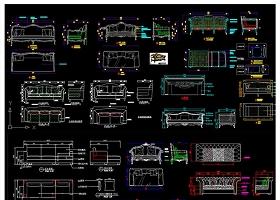 原创百款沙发生产加工CAD图纸-版权可商用