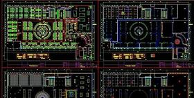 网吧台球室平顶电图图片