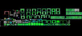 CAD中式門窗圖片