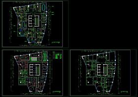 金泰大厦办公室装修平面图