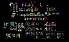 电机、气缸、联轴器、丝杆等机械组件图纸