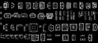AutoCAD沙发图库下载