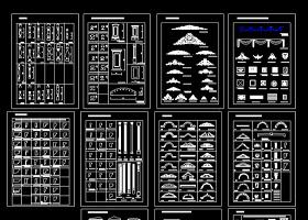 橱柜衣柜欧式构件设计cad图块图库