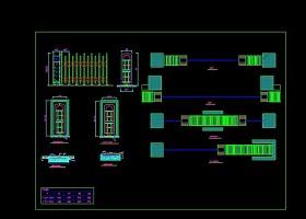 几套伸缩门CAD设计图.