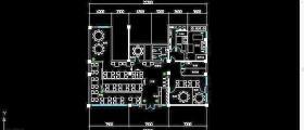 餐厅CAD平面布置图
