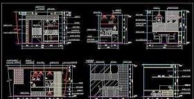 CAD餐厅立面素材